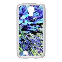 Colorful Floral Art Samsung GALAXY S4 I9500/ I9505 Case (White)