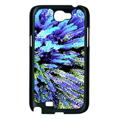 Colorful Floral Art Samsung Galaxy Note 2 Case (Black)