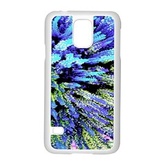 Colorful Floral Art Samsung Galaxy S5 Case (White)