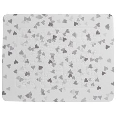 Silver Hearts Confetti Jigsaw Puzzle Photo Stand (Rectangular)