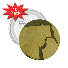 Stylish Gold Stone 2.25  Buttons (10 pack)