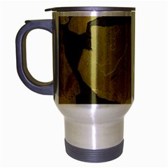 Stylish Gold Stone Travel Mug (Silver Gray)