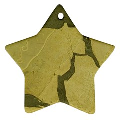 Stylish Gold Stone Star Ornament (Two Sides)
