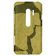 Stylish Gold Stone HTC Evo 3D Hardshell Case
