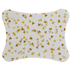 Gold Hearts Confetti Jigsaw Puzzle Photo Stand (Bow)