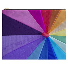 Rainbow Umrella Cosmetic Bag (xxxl)