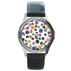 Play with me Round Metal Watch