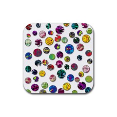 Play with me Rubber Square Coaster (4 pack)