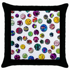 Play with me Throw Pillow Case (Black)