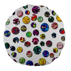 Play with me Large 18  Premium Round Cushions