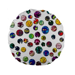 Play with me Standard 15  Premium Flano Round Cushions
