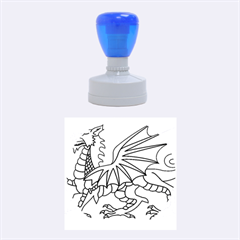 Flag Of Wales Rubber Round Stamps (medium)