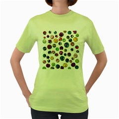 Play with me Women s Green T-Shirt