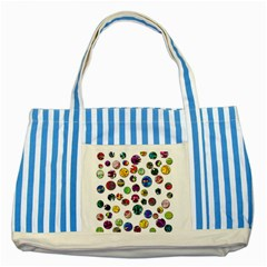 Play with me Striped Blue Tote Bag