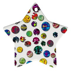 Play with me Star Ornament (Two Sides)