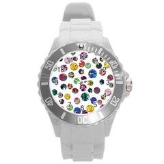 Play with me Round Plastic Sport Watch (L)