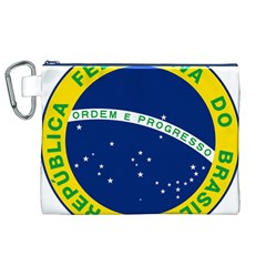 National Seal of Brazil  Canvas Cosmetic Bag (XL)
