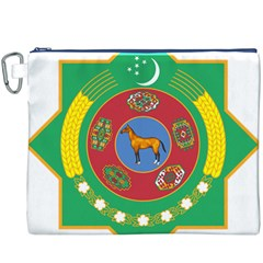 National Emblem of Turkmenistan  Canvas Cosmetic Bag (XXXL)