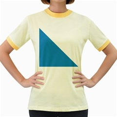 Flag of Canton of Zürich Women s Fitted Ringer T-Shirts