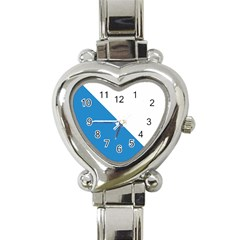 Flag of Canton of Zürich Heart Italian Charm Watch