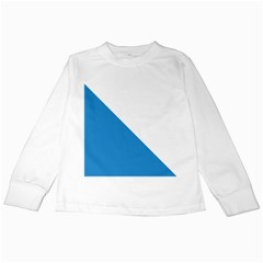 Flag of Canton of Zürich Kids Long Sleeve T-Shirts