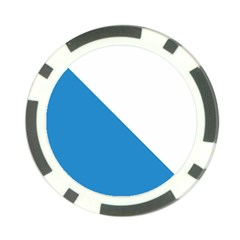 Flag of Canton of Zürich Poker Chip Card Guards