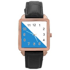 Flag of Canton of Zürich Rose Gold Leather Watch