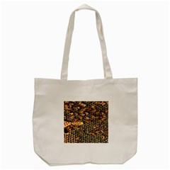 Queen Cup Honeycomb Honey Bee Tote Bag (Cream)