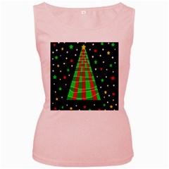 Xmas tree  Women s Pink Tank Top