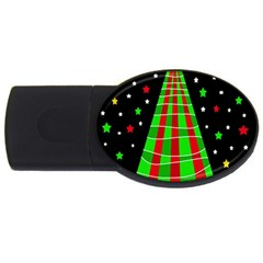 Xmas tree  USB Flash Drive Oval (1 GB)