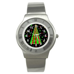 Xmas tree  Stainless Steel Watch