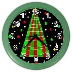 Xmas tree  Color Wall Clocks
