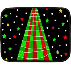 Xmas tree  Fleece Blanket (Mini)