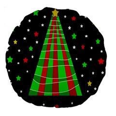 Xmas tree  Large 18  Premium Round Cushions