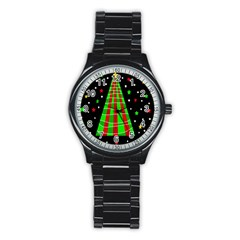 Xmas tree  Stainless Steel Round Watch