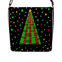Xmas tree  Flap Messenger Bag (L)