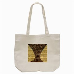 Rope Fabric Canvas Color Lana Tote Bag (Cream)