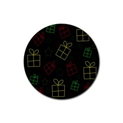 Xmas gifts Rubber Coaster (Round)