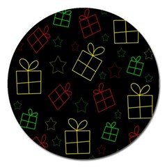 Xmas gifts Magnet 5  (Round)