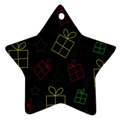 Xmas gifts Star Ornament (Two Sides)