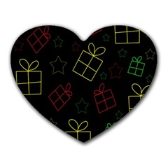 Xmas gifts Heart Mousepads