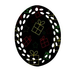 Xmas gifts Oval Filigree Ornament (2-Side)