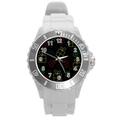Xmas gifts Round Plastic Sport Watch (L)
