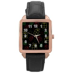 Xmas gifts Rose Gold Leather Watch