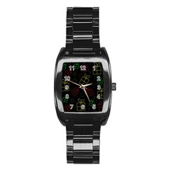 Xmas gifts Stainless Steel Barrel Watch