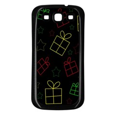 Xmas gifts Samsung Galaxy S3 Back Case (Black)