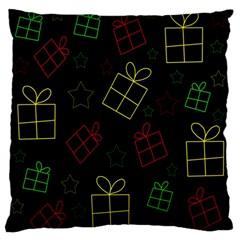 Xmas gifts Large Flano Cushion Case (One Side)