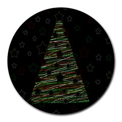 Xmas tree 2 Round Mousepads