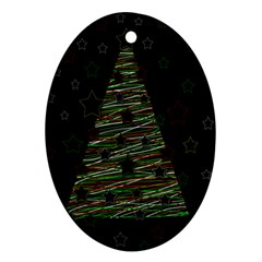 Xmas tree 2 Ornament (Oval)