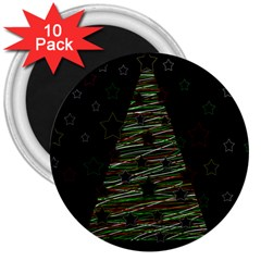 Xmas tree 2 3  Magnets (10 pack)